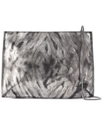 UMA | Raquel Davidowicz Leather Tunga Shoulder Bag - Metallic