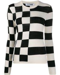 Courreges チェッカー セーター - ホワイト