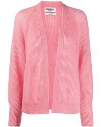 Essentiel Antwerp Long Sleeve Cable Knit Cardigan - Pink