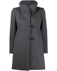 Fay Single Breasted Coat - Gray