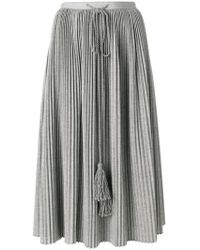 Veronique Branquinho - Pleated Tassel Drawstring Skirt - Lyst