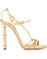 DSquared² Embellished-heel Stiletto Sandals - Metallic