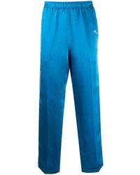 Wales Bonner ロゴ パジャマパンツ - ブルー
