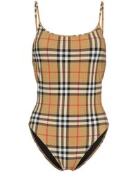 Burberry - Hama Classic Check Swimsuit - Lyst