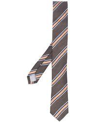 Eleventy Diagonal Stripe Pattern Tie - Green
