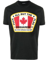 DSquared² - Canadian Flag T-shirt - Lyst