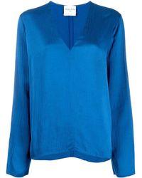 Forte Forte V-neck Blouse - Blue