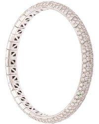Mattia Cielo ダイヤモンド バングル 18kホワイトゴールド - マルチカラー
