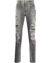 Dolce & Gabbana Джинсы С Нашивкой И Прорезями - Серый