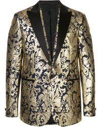 Versace Barocco Brocade Blazer - Metallic