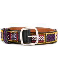 Etro Patterned Belt - Black