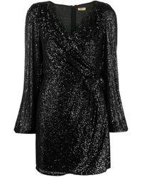 Liu Jo Embroidered Mini Dress - Black
