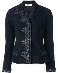 Dior Veste brodée - Bleu