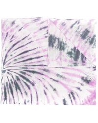 Isabel Marant Logo-embroidered Tie-dye Scarf - Purple