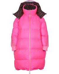 Fendi オーバーサイズ パデッドコート - ピンク
