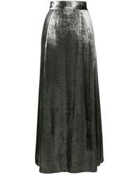 Bella Freud メタリック ロングスカート - マルチカラー