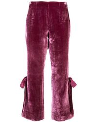 Cinq À Sept - Cropped Velvet Trousers - Lyst