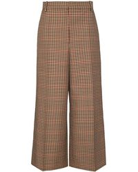 JOSEPH Travis Check-pattern Culottes - Brown