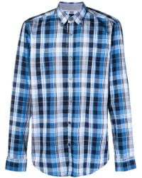 BOSS - Checked Classic Shirt - Lyst