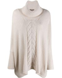 N.Peal Cashmere Single Cable Oversize Cashmere Jumper - Natural