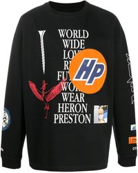 Heron Preston World Wide Love スウェットシャツ - ブラック