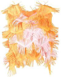 Paskal Blusa con frange - Arancione
