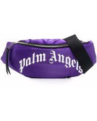 Palm Angels ロゴ ベルトバッグ - パープル
