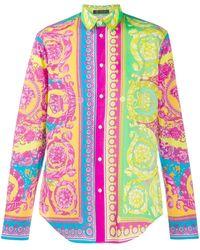 Versace Baroque Print Shirt - Pink