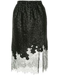 Robert Rodriguez - Lace Hem Skirt - Lyst