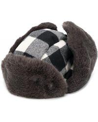 Woolrich Arctic チェックハット - グレー