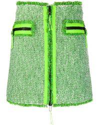 SJYP ツイード ミニスカート - グリーン