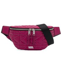 Karl Lagerfeld K/kuilted Studs Bumbag - Pink