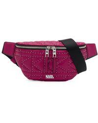Karl Lagerfeld K/gevoerde Bucket Tas Met Studs - Roze