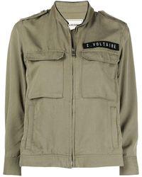 Zadig & Voltaire Kavy Logo Patch Jacket - Green