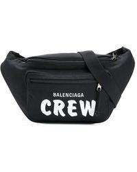 Balenciaga Riñonera Crew Explorer - Negro