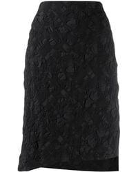 Issey Miyake パターン スカート - ブラック