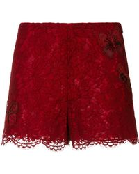 Valentino - Butterfly Lace Shorts - Lyst
