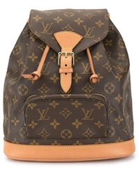 Louis Vuitton 1997 Pre-owned Montsouris Mm Backpack - Brown