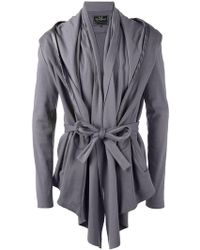 Unconditional - Belted Drape Insert Jacket - Lyst