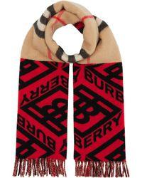 Burberry - パターン スカーフ - Lyst