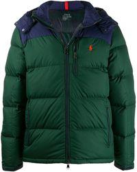Polo Ralph Lauren Куртка В Стиле Колор-блок С Логотипом - Зеленый