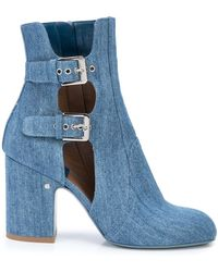 Laurence Dacade Cut-out Buckle Boots - Blue