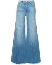 FRAME - Le Palazzo Raw Edge Jeans - Lyst