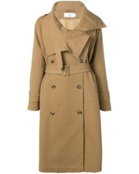 Closed - Belted Double-breasted Coat - Lyst