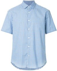 Cerruti 1881 - Short Sleeve Checked Shirt - Lyst