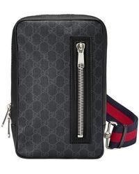 Gucci GG Supreme Belt Bag - Black