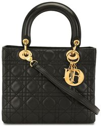 Dior Pre-owned Lady Dior Cannage 2way Bag - Black