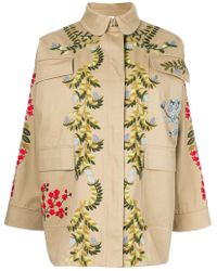 RED Valentino - Embroidered Floral Cargo Jacket - Lyst