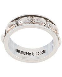 Emanuele Bicocchi 'Croc' Ring - Mettallic