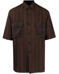 Qasimi サテンポケット シャツ - ブラウン